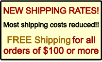 Most shipping costs reduced!!